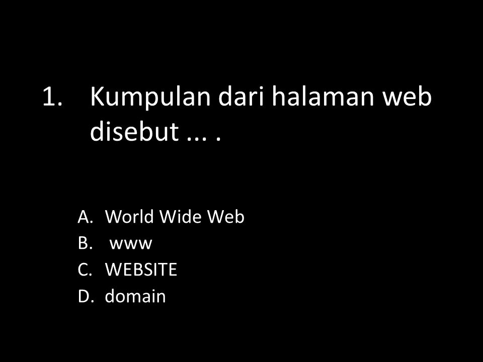 3.Apa yang dimaksud web.