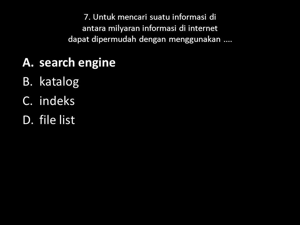 2.Sebutkan macam-macam web browser. a.) Internet Explorer b.)Netscape Navigator c.