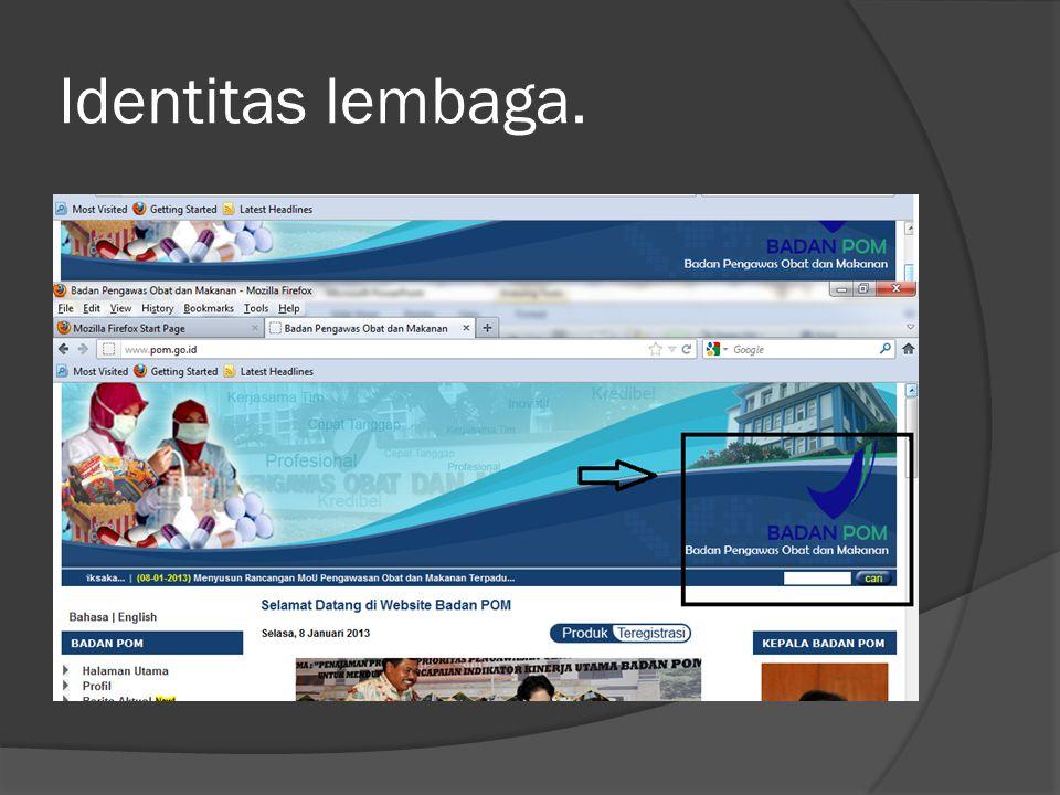 Kualitas isi  Kualitas isi website ini dapat dikatakan cukup baik dilihat dari kelengkapan menu layanan dan menu interaksi yang terdapat di dalam nya.