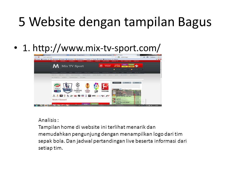 5 Website dengan tampilan Bagus • 1.