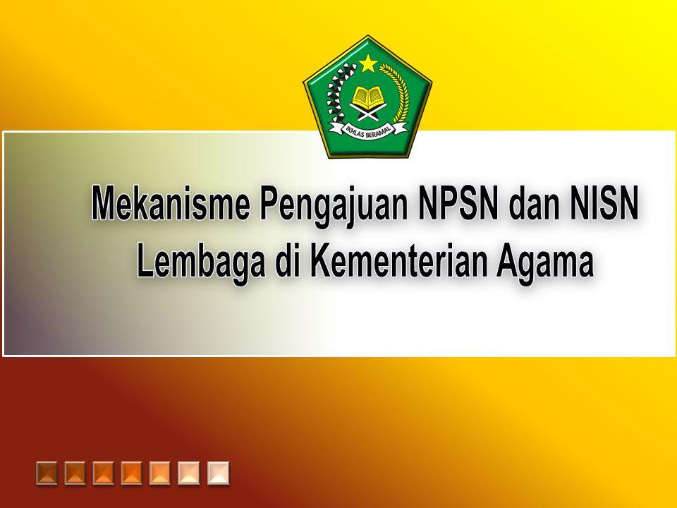 Pengertian NPSN • NPSN (Nomor Pokok Sekolah Nasional) adalah standar kode pengenal yang unik untuk satuan pendidikan (sekolah/madrasah) yang dikeluarkan oleh PDSP.