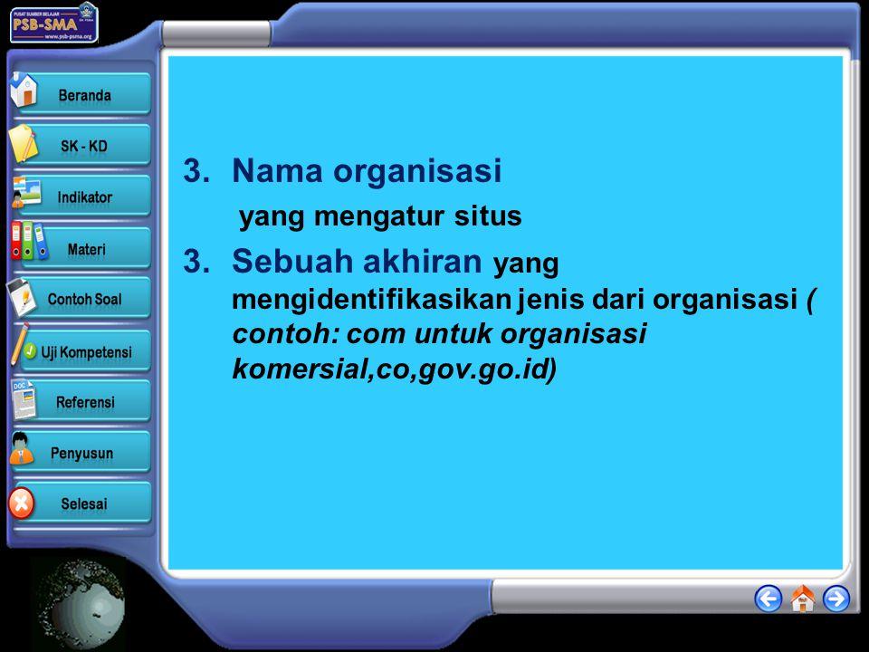 Menjalankan web browser •Alamat internet atau URL ( uniform resource locator) terdiri dari empat bagian : 1.Nama protokol ( protokol adalah aturan ata