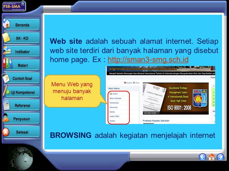 Web site adalah sebuah alamat internet.