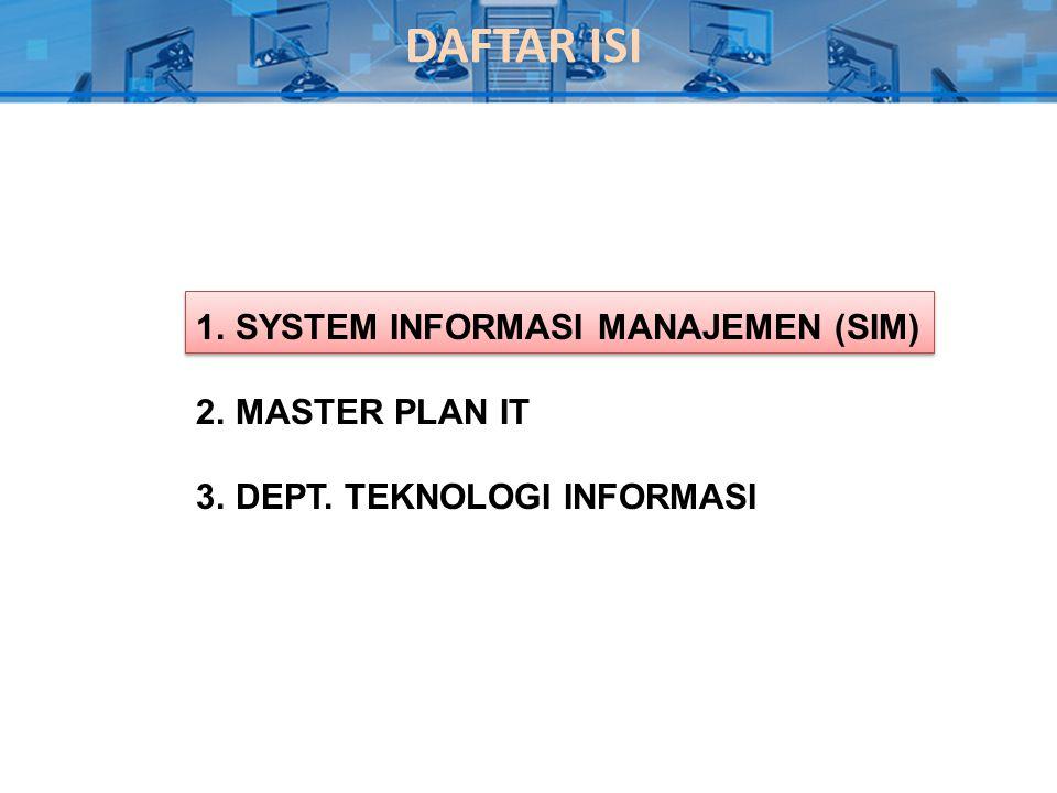 Master Plan IT 1.Pendahuluan yang menceritakan kondisi sekarang.