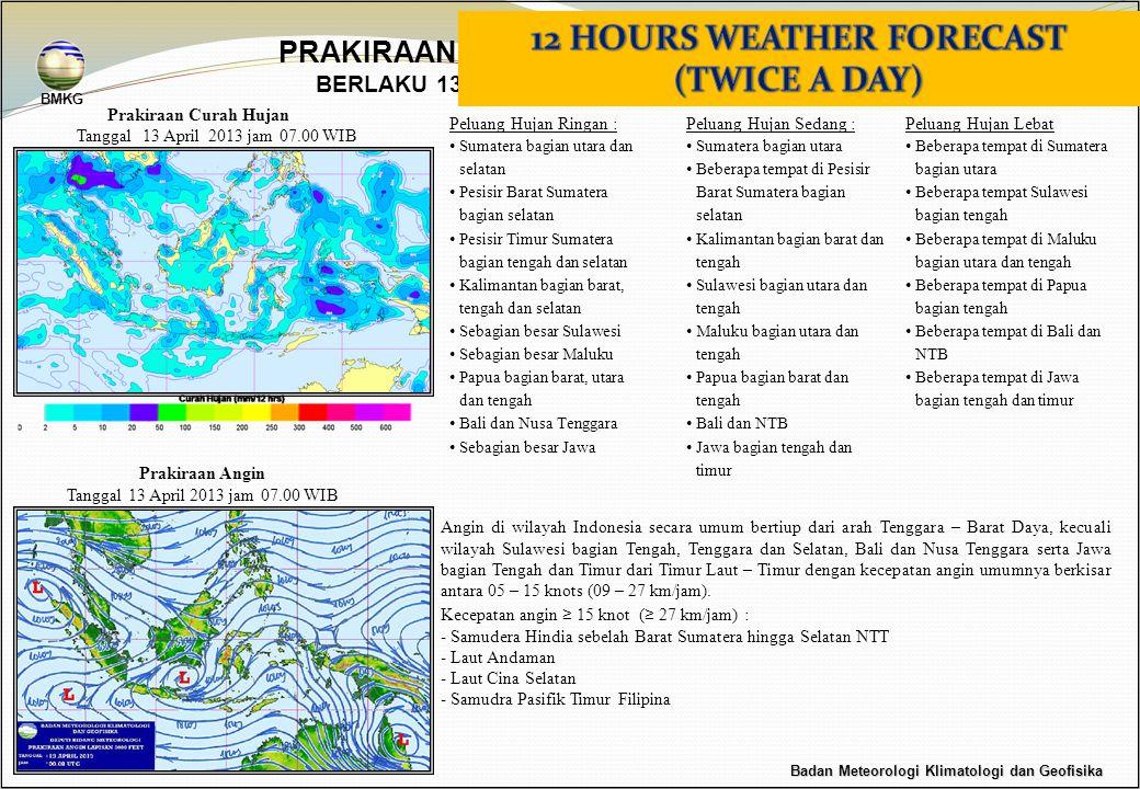 Prakiraan Curah Hujan Peluang Hujan Sedang : •Sumatera bagian utara •Beberapa tempat di Pesisir Barat Sumatera bagian selatan •Kalimantan bagian barat
