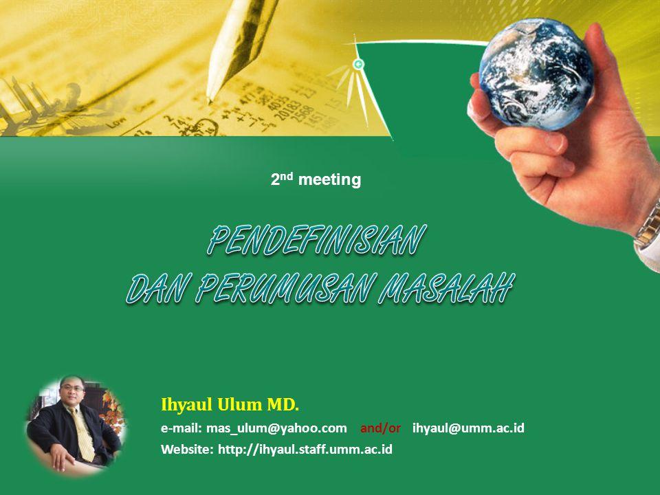 2 nd meeting Ihyaul Ulum MD.