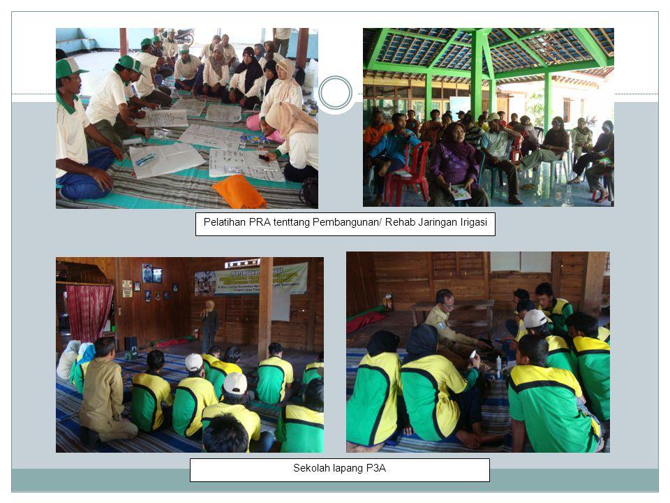 Pelatihan PRA tenttang Pembangunan/ Rehab Jaringan Irigasi Sekolah lapang P3A
