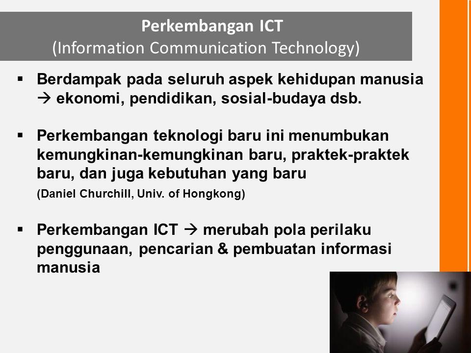 Level 0individu sama sekali tidak tahu & tidak peduli akan pentingnya informasi dan teknologi untuk kehidupan sehari-hari; Level 1Jika individu pernah memiliki pengalaman satu dua kali dimana informasi merupakan sebuah komponen penting untuk pencapaian keinginan & pemecahan masalah, serta telah melibatkan ICT untuk mencarinya; Level 2Jika individu telah berkali-kali menggunakan ICT untuk membantu aktivitasnya sehari- hari dan telah memiliki pola keberulangan dalam penggunaannya; Level 3Jika individu telah memiliki standar penguasaan dan pemahaman terhadap informasi maupun teknologi yang diperlukannya, dan secara konsisten mempergunakan standar tersebut sebagai acuan penyelenggaraan aktivitasnya sehari-hari; Level 4Jika individu telah sanggup meningkatkan secara signifikan (dapat dinyatakan secara kuantitatif) kinerja aktivitas kehidupannya sehari-hari melalui pemanfaatan informasi & teknologi; Level 5Jika individu telah menganggap informasi dan teknologi sebagai bagian tidak terpisahkan dari aktivitas sehari-hari, dan secara langsung maupun tidak langsung telah mewarnai perilaku dan budaya hidupnya (bagian dari information society atau manusia berbudaya informasi).
