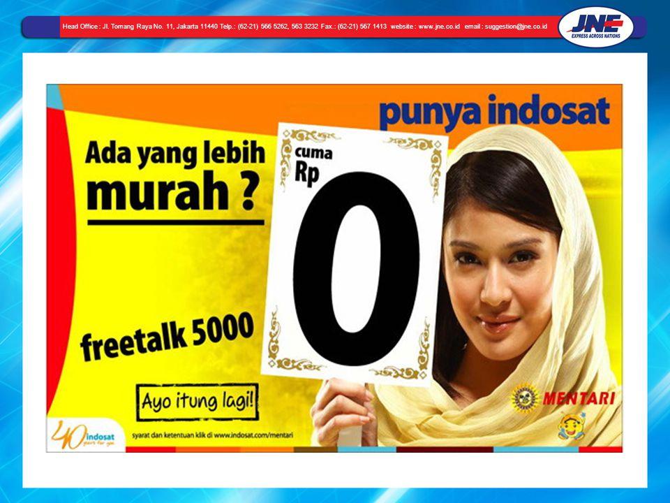 Head Office : Jl. Tomang Raya No. 11, Jakarta 11440 Telp.: (62-21) 566 5262, 563 3232 Fax.: (62-21) 567 1413 website : www.jne.co.id email : suggestio
