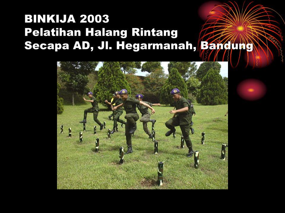 BINKIJA 2003 Pelatihan Halang Rintang Secapa AD, Jl. Hegarmanah, Bandung