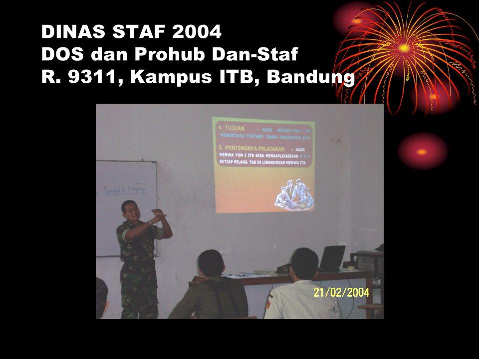 DINAS STAF 2004 DOS dan Prohub Dan-Staf R. 9311, Kampus ITB, Bandung