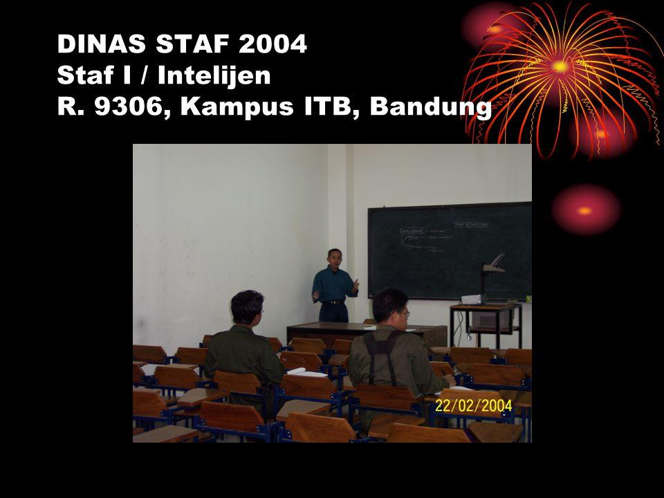 DINAS STAF 2004 Staf I / Intelijen R. 9306, Kampus ITB, Bandung