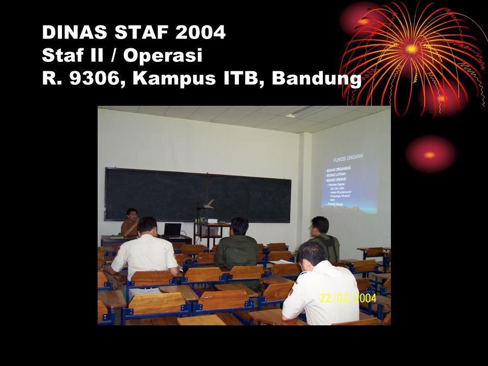 DINAS STAF 2004 Staf II / Operasi R. 9306, Kampus ITB, Bandung