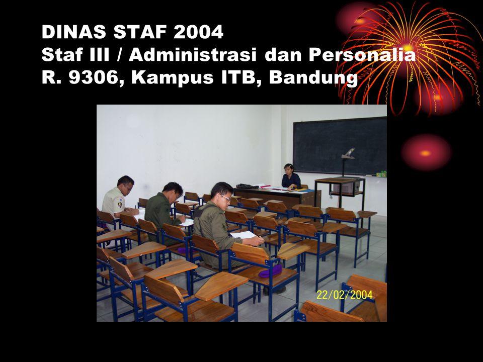 DINAS STAF 2004 Staf III / Administrasi dan Personalia R. 9306, Kampus ITB, Bandung