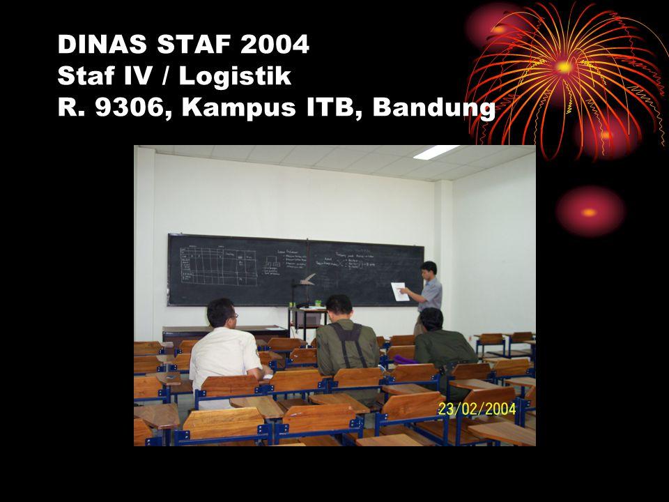 DINAS STAF 2004 Staf IV / Logistik R. 9306, Kampus ITB, Bandung