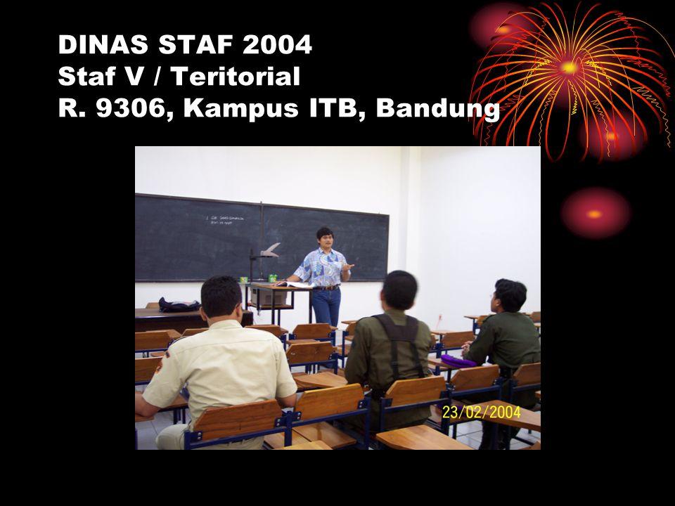 DINAS STAF 2004 Staf V / Teritorial R. 9306, Kampus ITB, Bandung