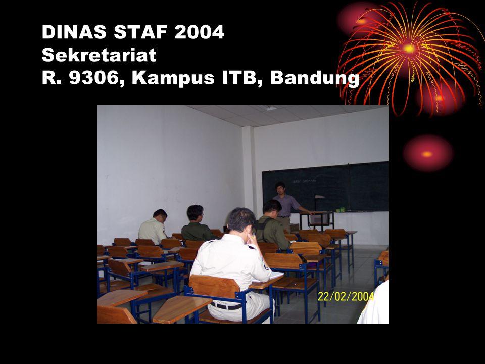 DINAS STAF 2004 Sekretariat R. 9306, Kampus ITB, Bandung