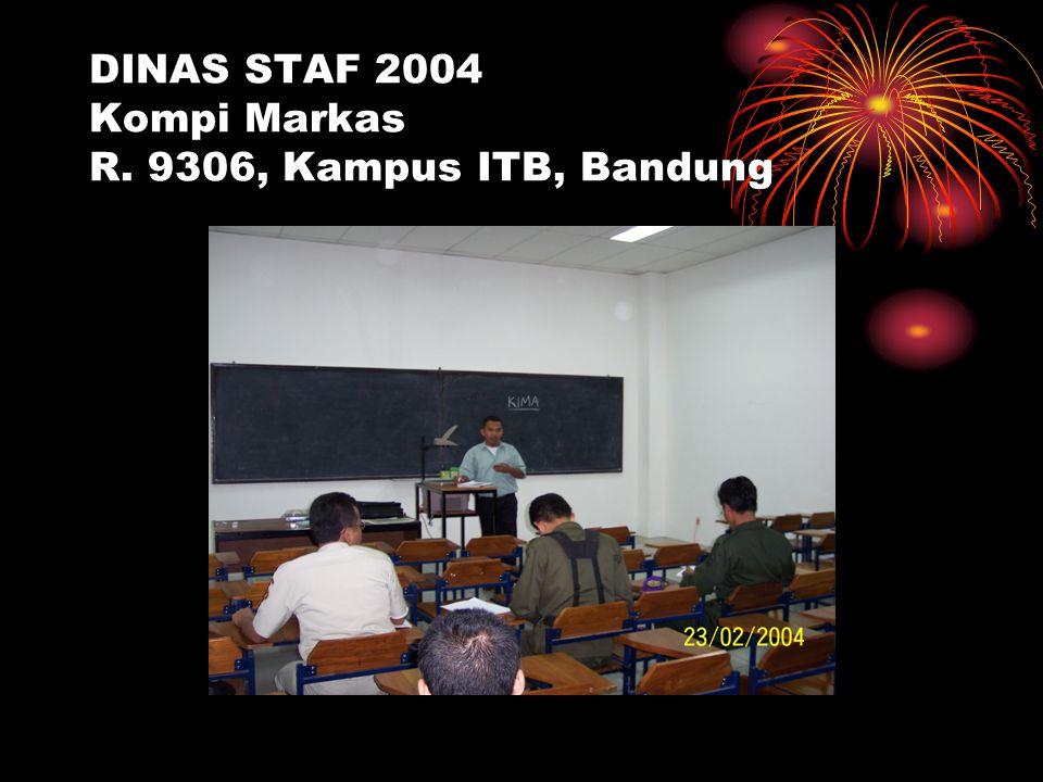 DINAS STAF 2004 Kompi Markas R. 9306, Kampus ITB, Bandung