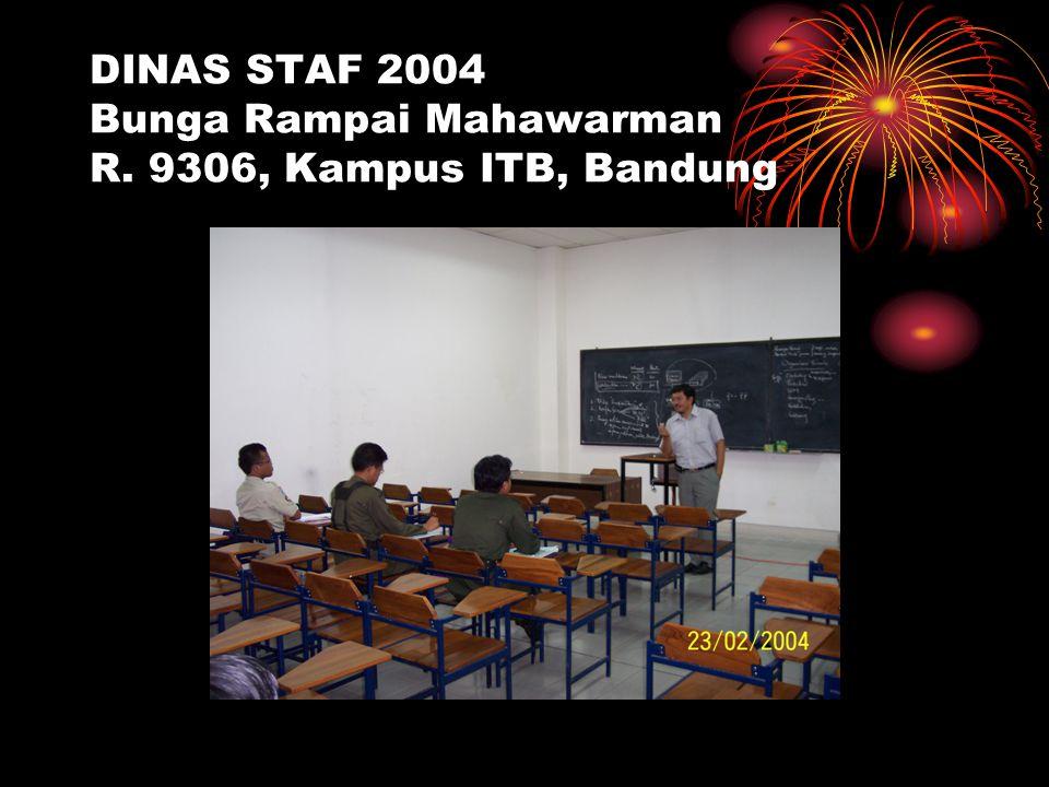 DINAS STAF 2004 Bunga Rampai Mahawarman R. 9306, Kampus ITB, Bandung