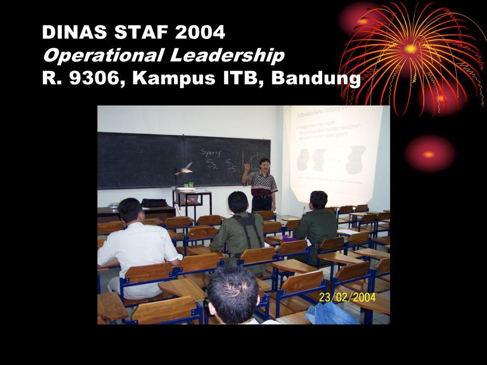 DINAS STAF 2004 Operational Leadership R. 9306, Kampus ITB, Bandung