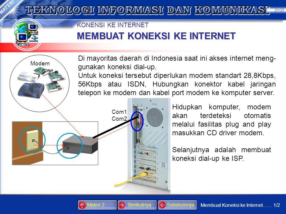 KONENSI KE INTERNET •Client: Windows 98/Me/2000 •Server: Windows 98/Me •Masukkan disket yang berisi proragam ICSGLSET dan jalankan file instalasi ters