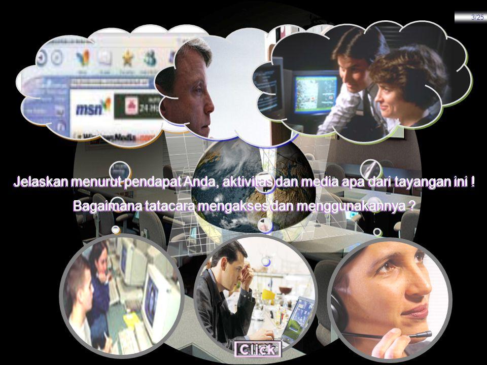 KONENSI KE INTERNET MATERI MENJALANKAN INTERNET 1.Setelah semua langkah-langkah instalasi dan konfigurasi sudah selesai seperti yang telah diuraikan di atas, kini kita bisa menjalankan internet dengan cara sebagai berikut : Connect 1 2 3 1.Dari desktop klik ganda icon ISP Anda atau My Connections, contoh Telkomnet.