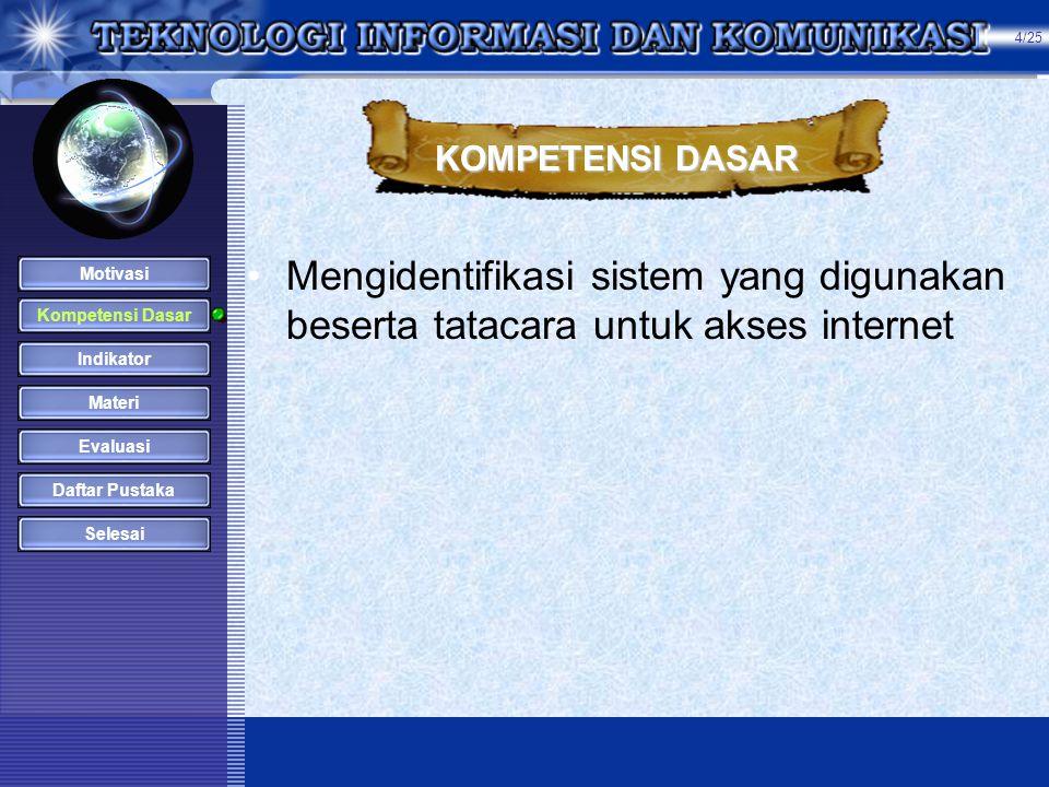 KONENSI KE INTERNET MATERI MENJALANKAN INTERNET 1.Selanjutnya Anda bisa berselancar ke website yang Anda inginkan .