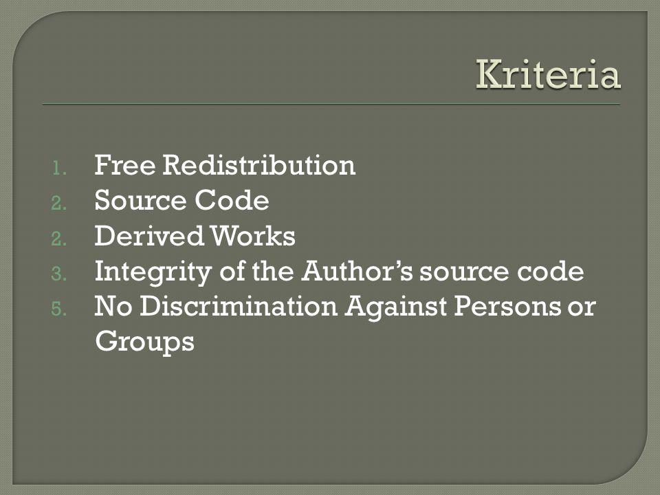 5.No Discrimination Against Fields of Endeavor 6.