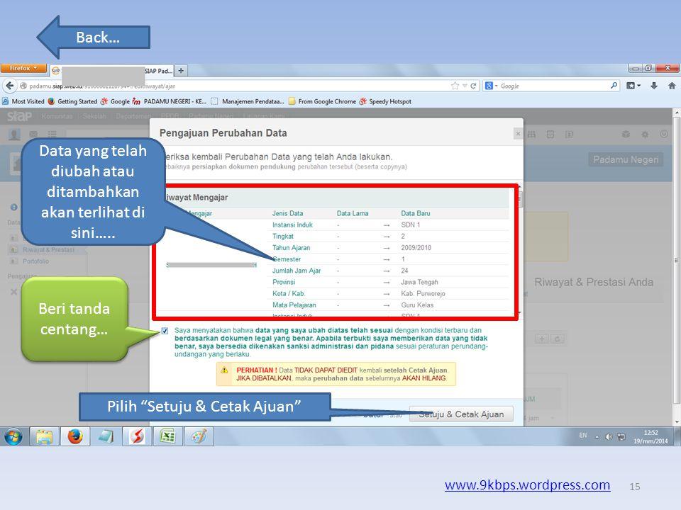 """Back… www.9kbps.wordpress.com 14 Pilih """"Jadikan Permanen"""" Nanti akan muncul menu untuk cetak s12"""