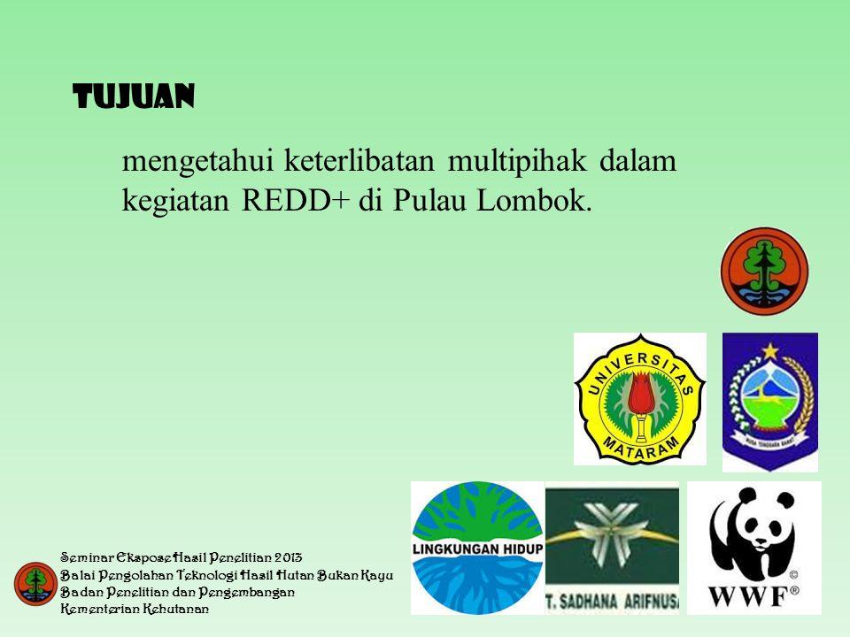 TUJUAN mengetahui keterlibatan multipihak dalam kegiatan REDD+ di Pulau Lombok.