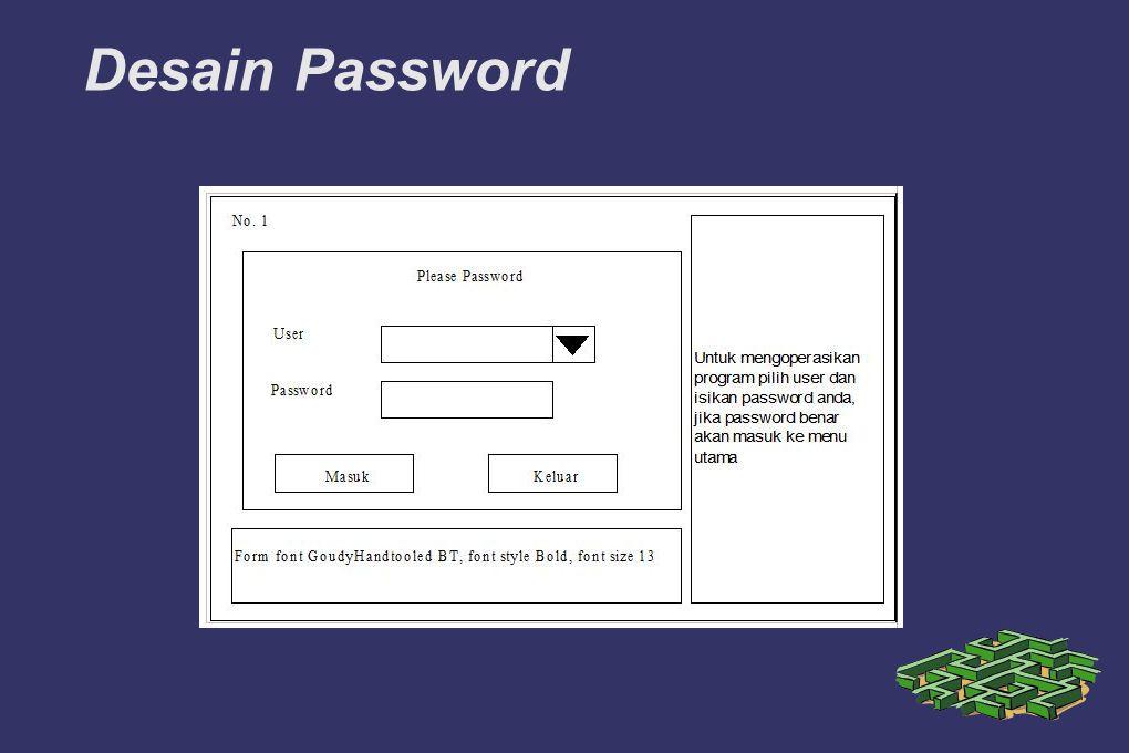 Desain Password