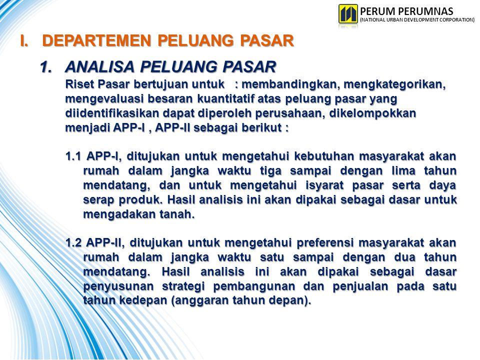 PROSEDUR ANALISA PELUANG PASAR : PROSEDUR ANALISA PELUANG PASAR : a.Siapkan Rencana Kerja dan Anggaran untuk APP.