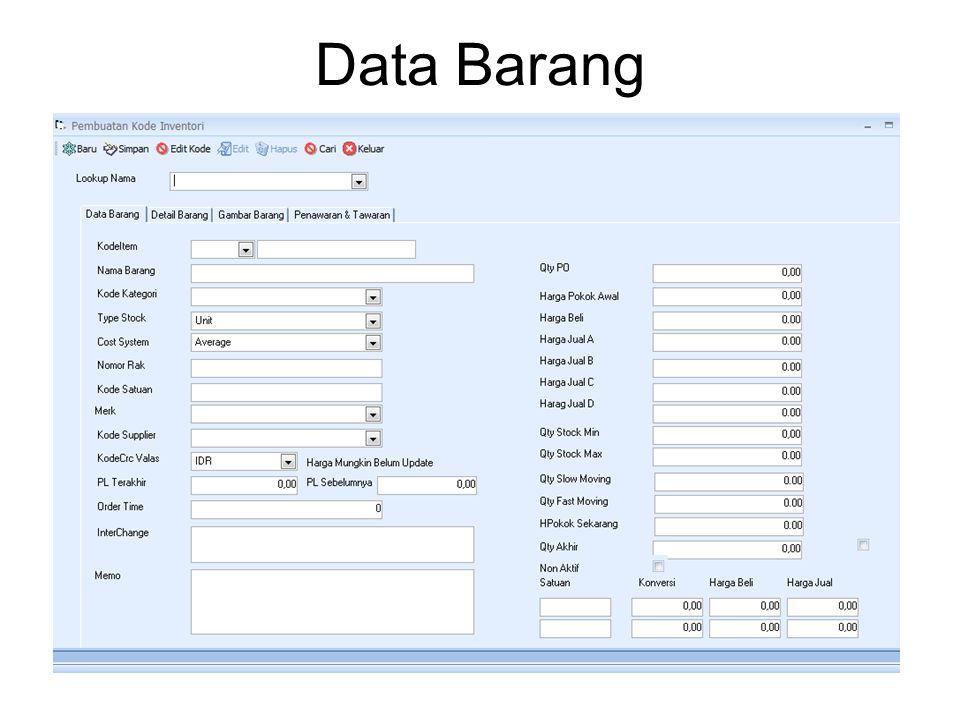 Data Barang