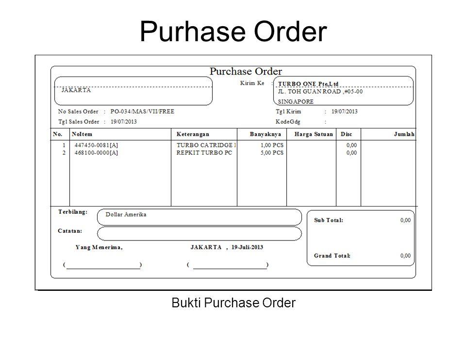 Purhase Order Bukti Purchase Order