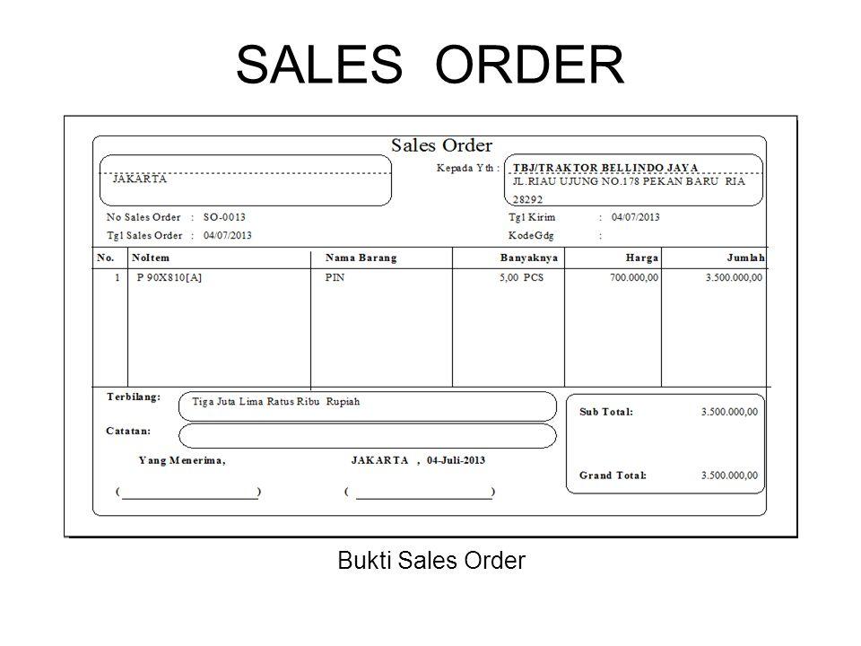SALES ORDER Bukti Sales Order