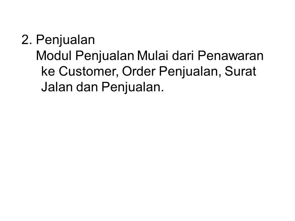Transaksi Sales Order