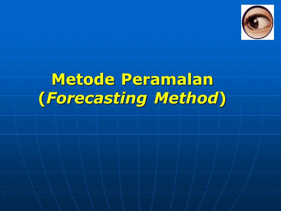 Metode Deret Waktu 1.Constant 2. Linier trend 3. Quadratic 4.