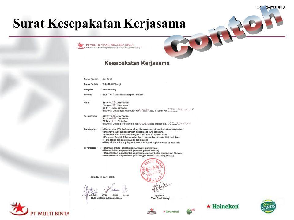 Confidential, #10 Surat Kesepakatan Kerjasama