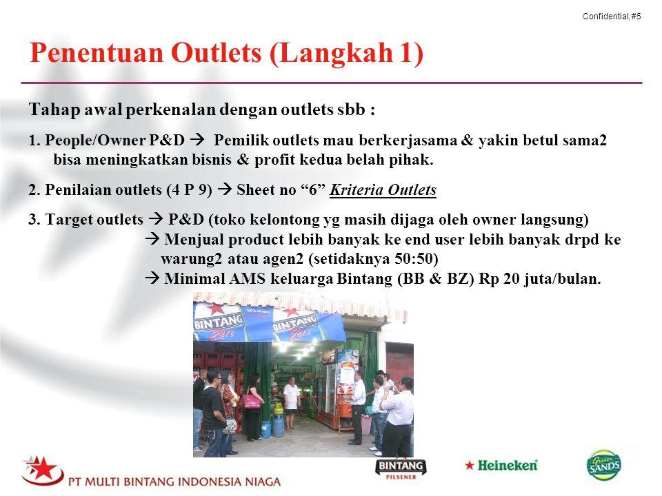 Confidential, #5 Penentuan Outlets (Langkah 1) Tahap awal perkenalan dengan outlets sbb : 1.