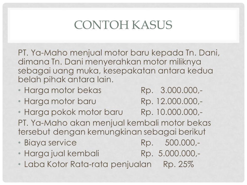 CONTOH KASUS PT.Ya-Maho menjual motor baru kepada Tn.