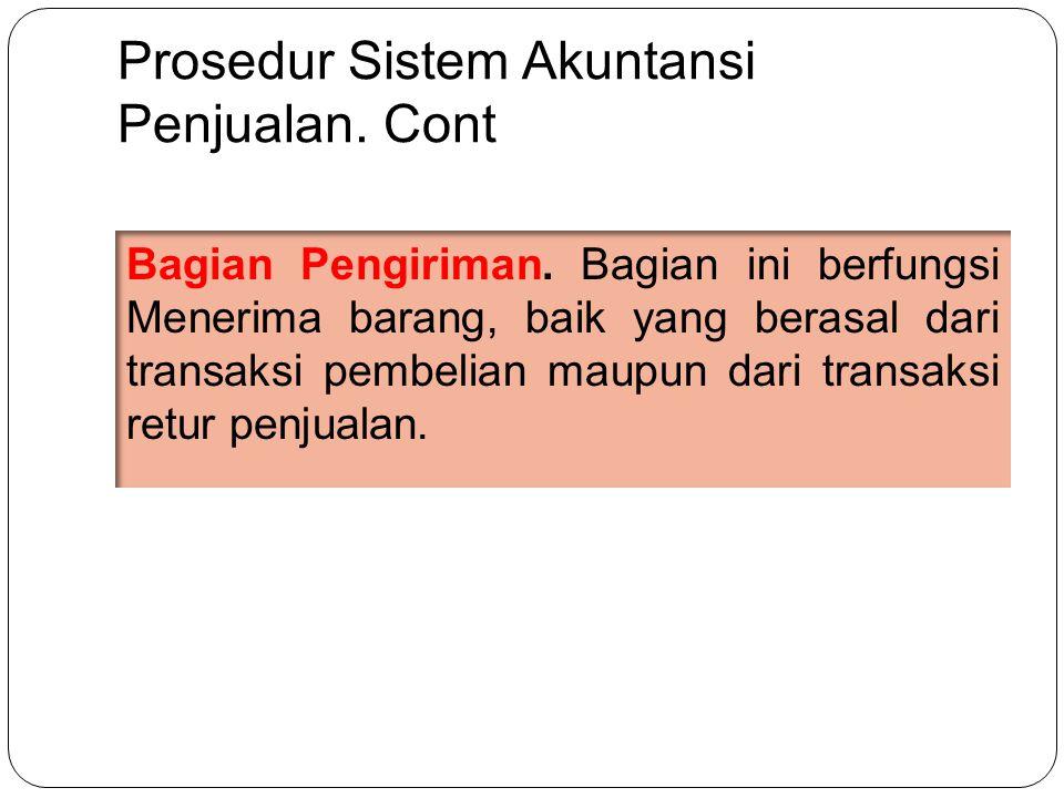 Prosedur Sistem Akuntansi Penjualan.Cont Bagian Pengiriman.