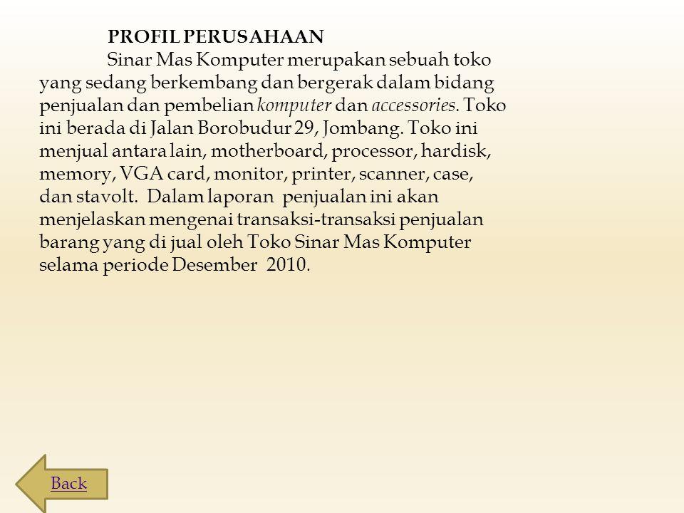 STRUKTUR ORGANISASI TOKO SINAR MAS KOMPUTER Kepala Manajer Aulia Rizki Jayanti Kepala Bagian Keuangan Rita Anjani Sub.