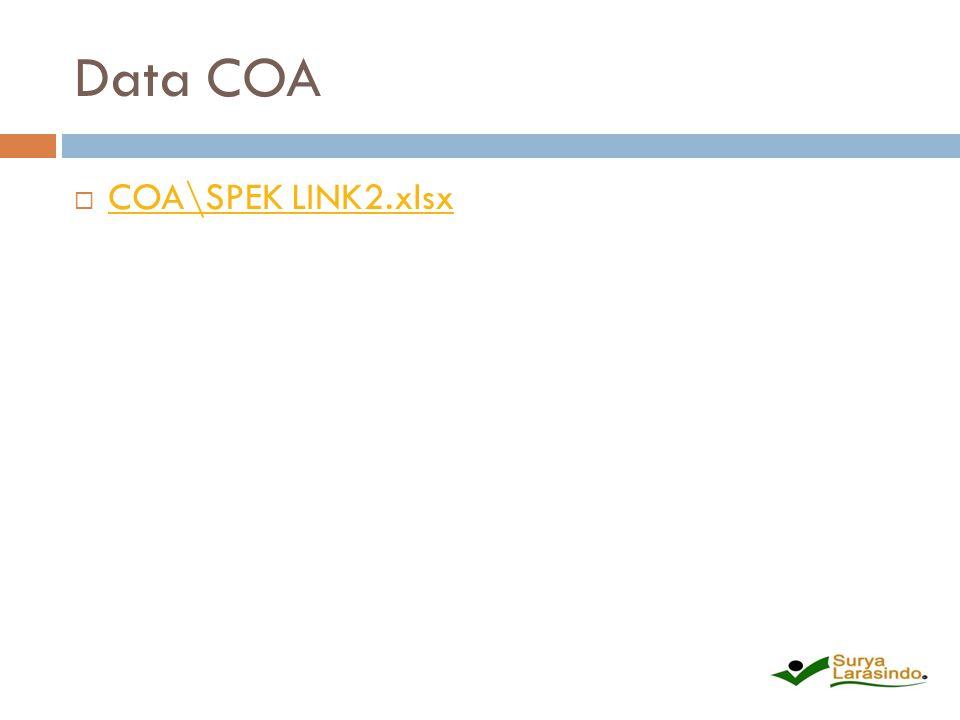 Data COA  COA\SPEK LINK2.xlsx COA\SPEK LINK2.xlsx