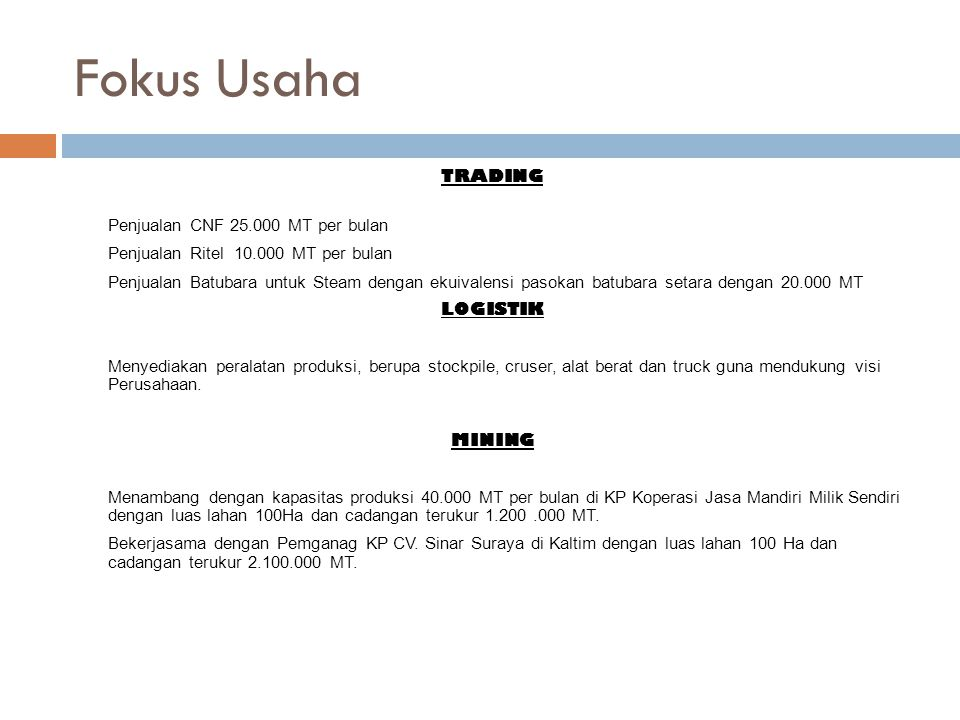Data Umum Perusahaan Nama Perusahaan:PT.