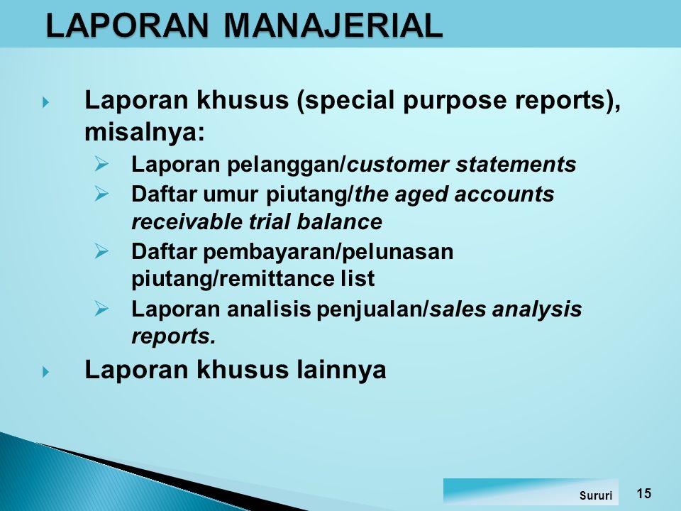  Control report untuk memastikan bahwa perubahan atau mutasi rekening telah diproses dengan benar.