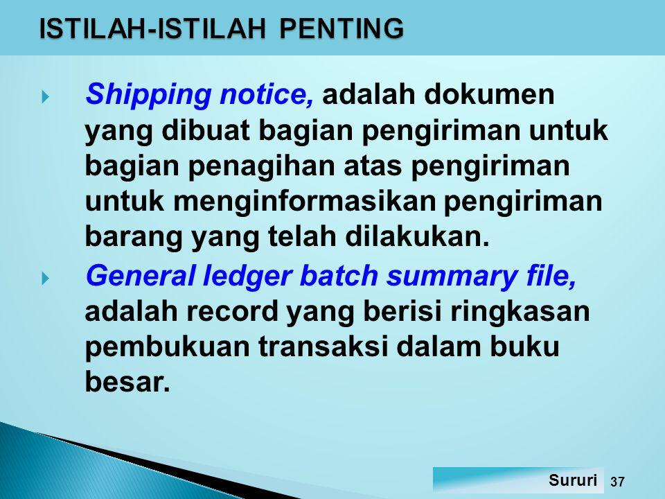  Sistem penagihan piutang 1.Postbilling system, dalam sistem ini faktur penjualan dibuat setelah diperoleh konfirmasi bahwa barang telah dikirimkan.