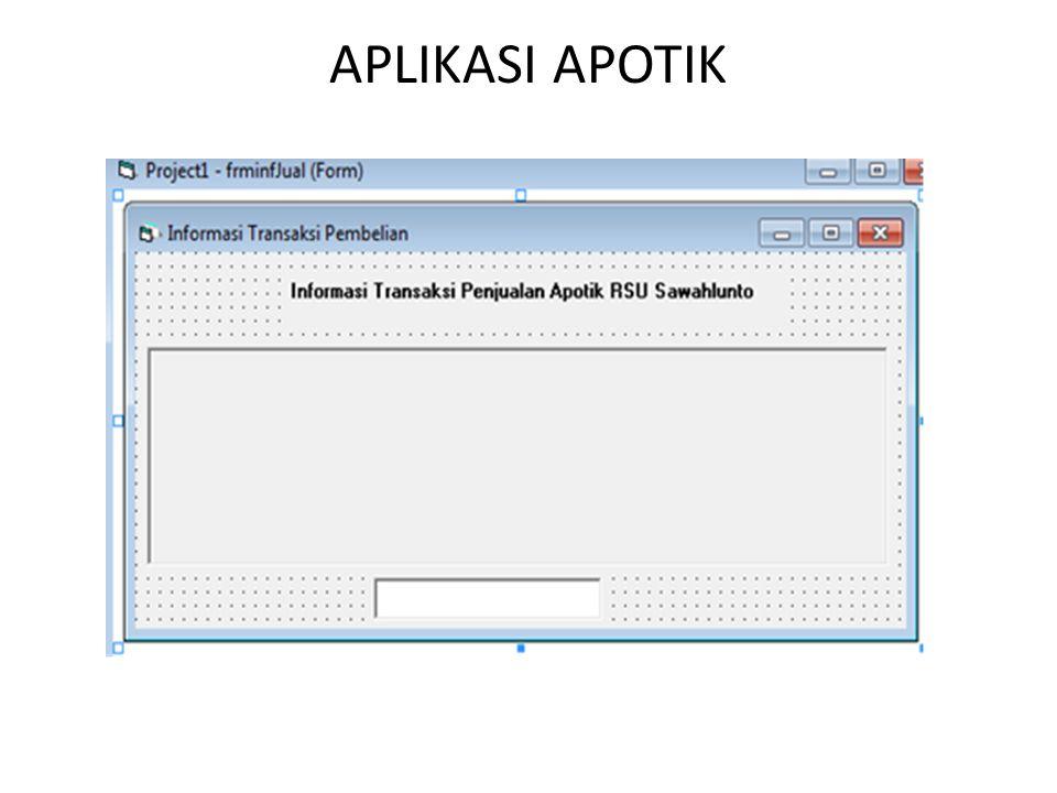 5. Jenis MultiForm • MDI 6. Penggunaan Database