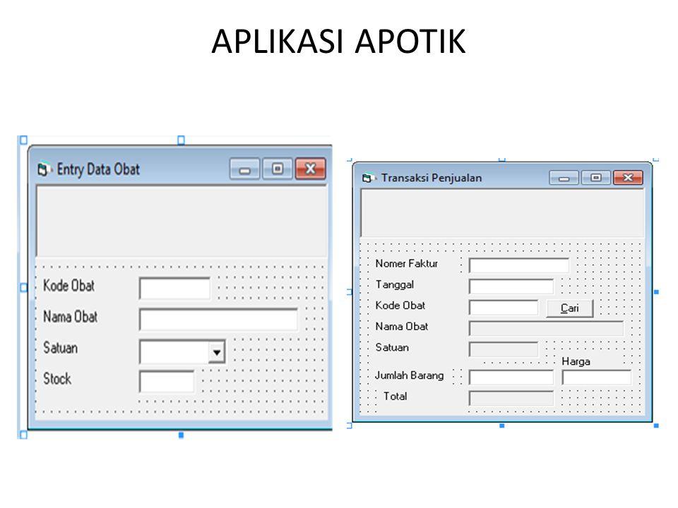 5. Jenis Multi Form - MDI 6. Pengguanaan Data Base