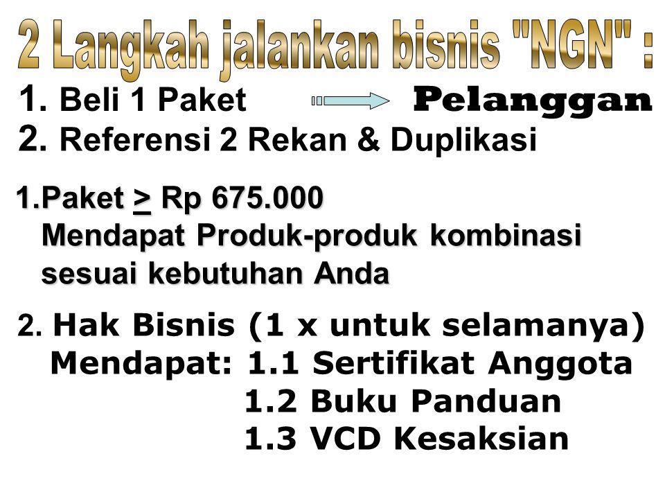 1.Paket > Rp 675.000 Mendapat Produk-produk kombinasi Mendapat Produk-produk kombinasi sesuai kebutuhan Anda sesuai kebutuhan Anda 2.