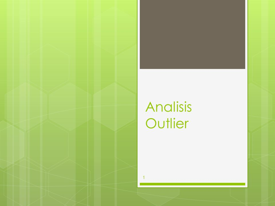 Analisis Outlier 1